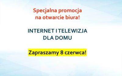 Nowa promocja: Internet i telewizja za 1 zł z okazji otwarcia biura w Radzyminie